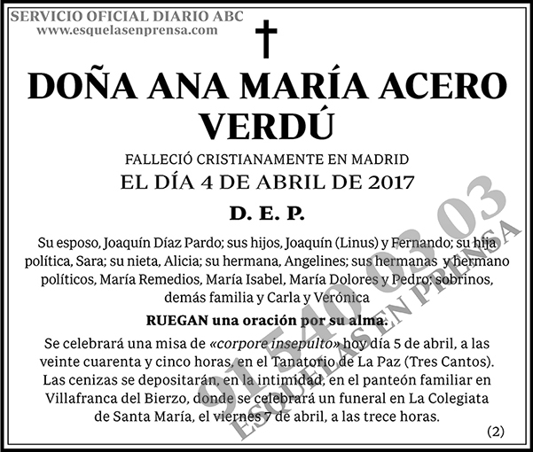 Ana María Acero Verdú